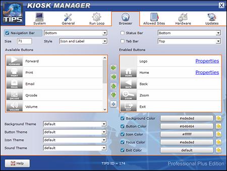 TIPS Kiosk Management Software - TIPS Administration - Browser