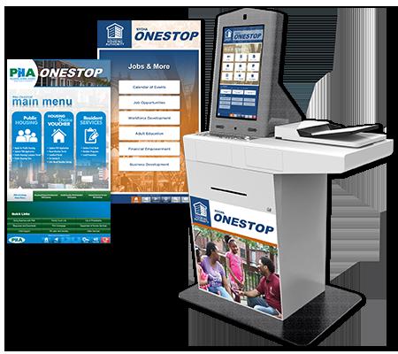 PHA OneStop Kiosk Enclosure and Screengrabs