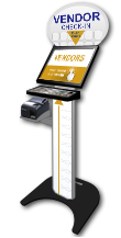 Vendor Check-in Kiosk Floor Standing