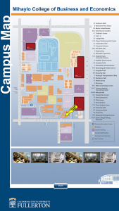 California State Fullerton Wayfinding Campus Map