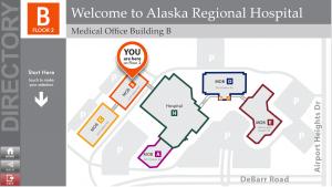 Alaska Regional Hospital Map