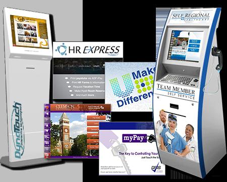 Employee Self-Service Kiosks and Screen Grabs