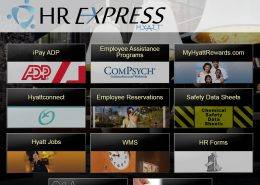 Hyatt Hotels HR Main Menu