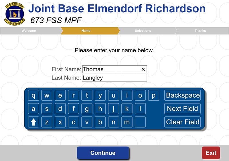 Joint Base Elmendorf Richardson Queue Enter Your Name