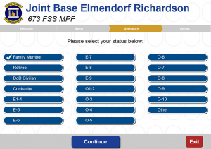 Joint Base Elmendorf Richardson Queue Select Your Status Screen