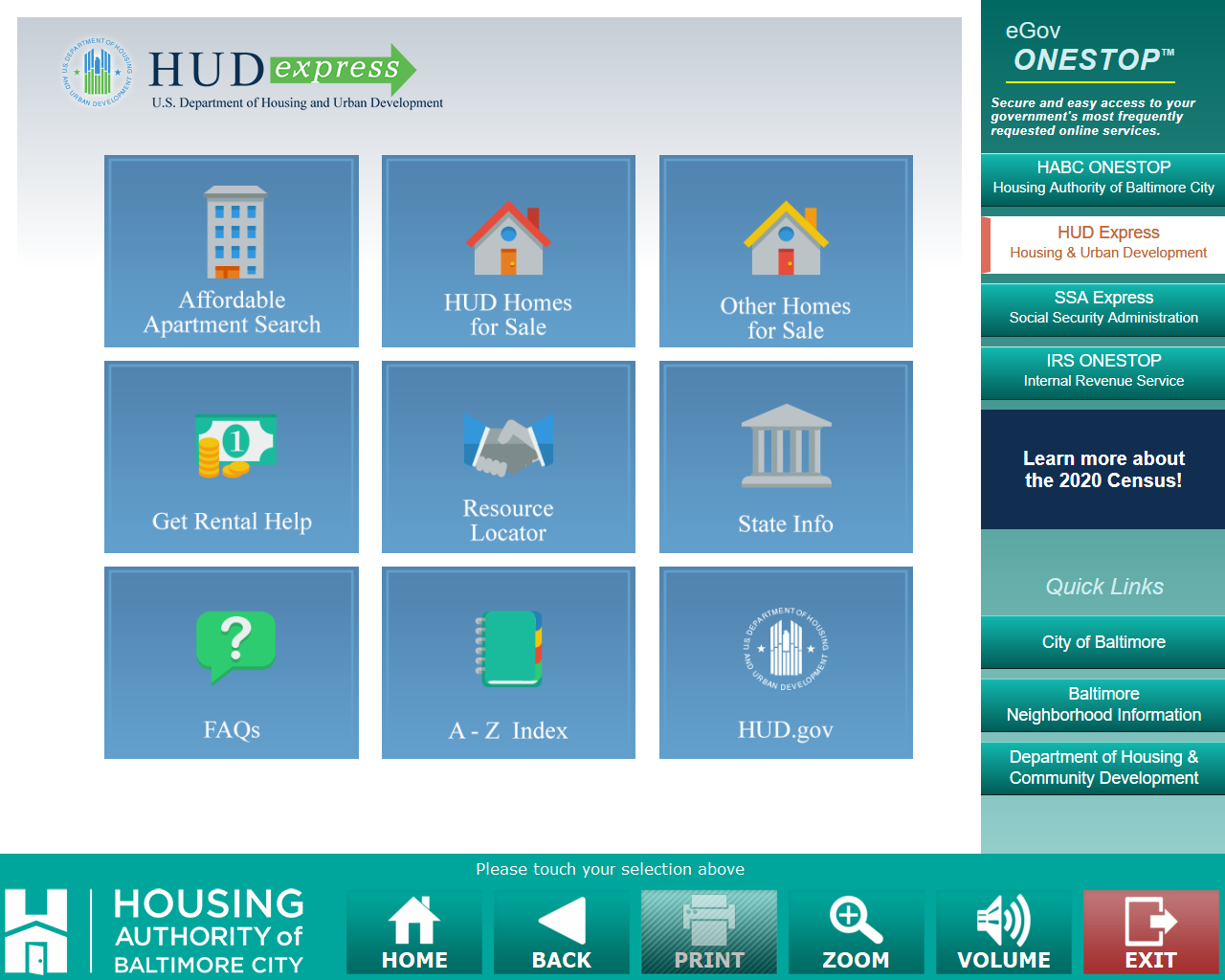 HUD Express Module on PHA OneStop: Housing Authority of Baltimore City