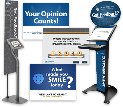 Survey / Feedback Kiosks and Screengrabs