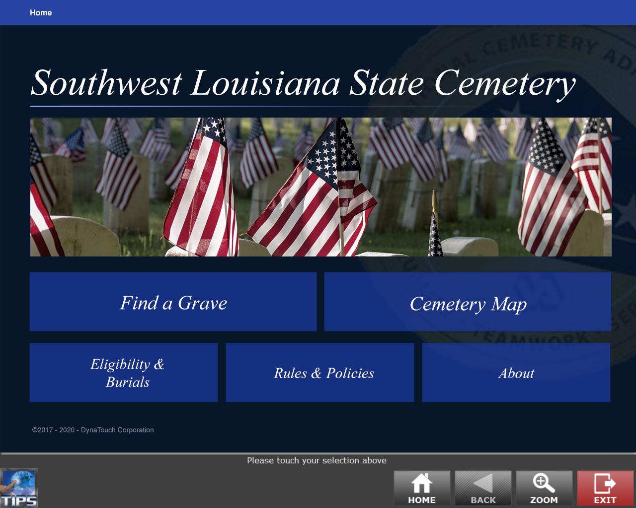 Gravesite Locator Main Menu: Southwest Louisiana State Cemetery