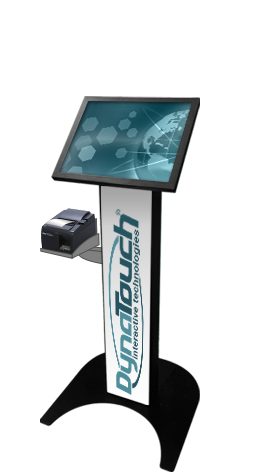 Floor Standing Slim Kiosk Model D